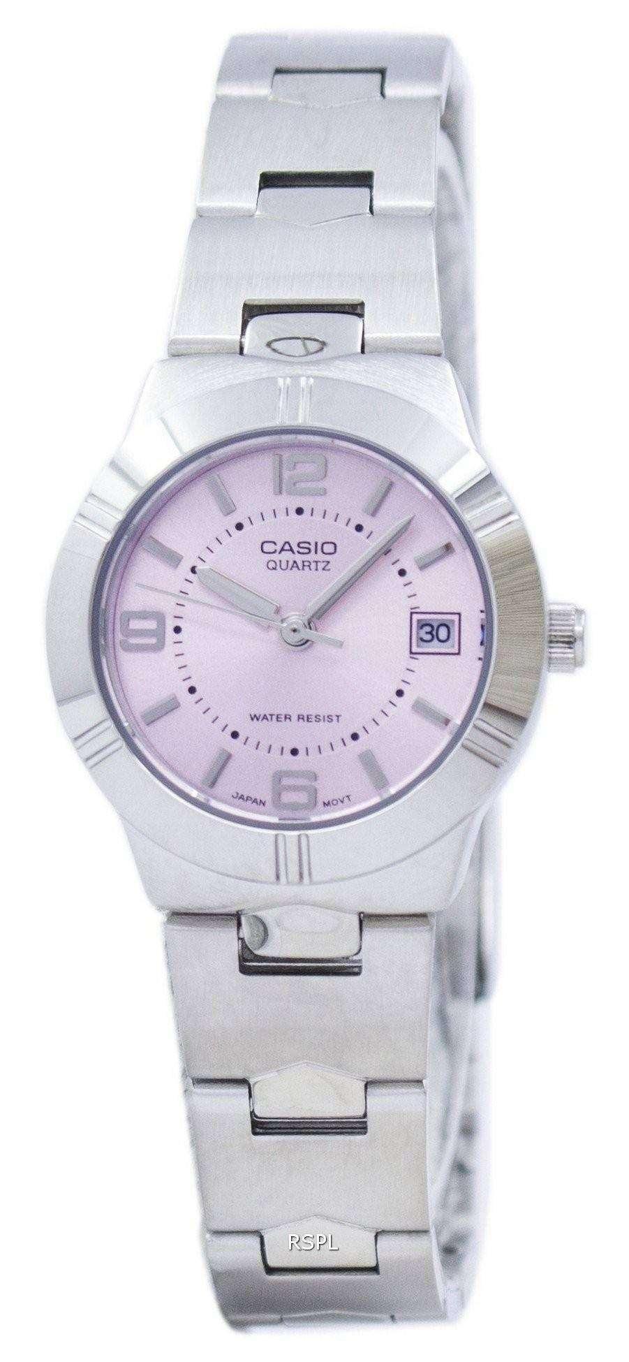 bajo precio 45c34 09397 Reloj Casio Enticer cuarzo analógico Dial rosa LTP-1241D-4ADF LTP-1241D-4A  de la mujer