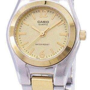 Reloj Casio Enticer cuarzo analógico Dial oro LTP 1253SG-9ADF LTP 1253SG-9A de la mujer