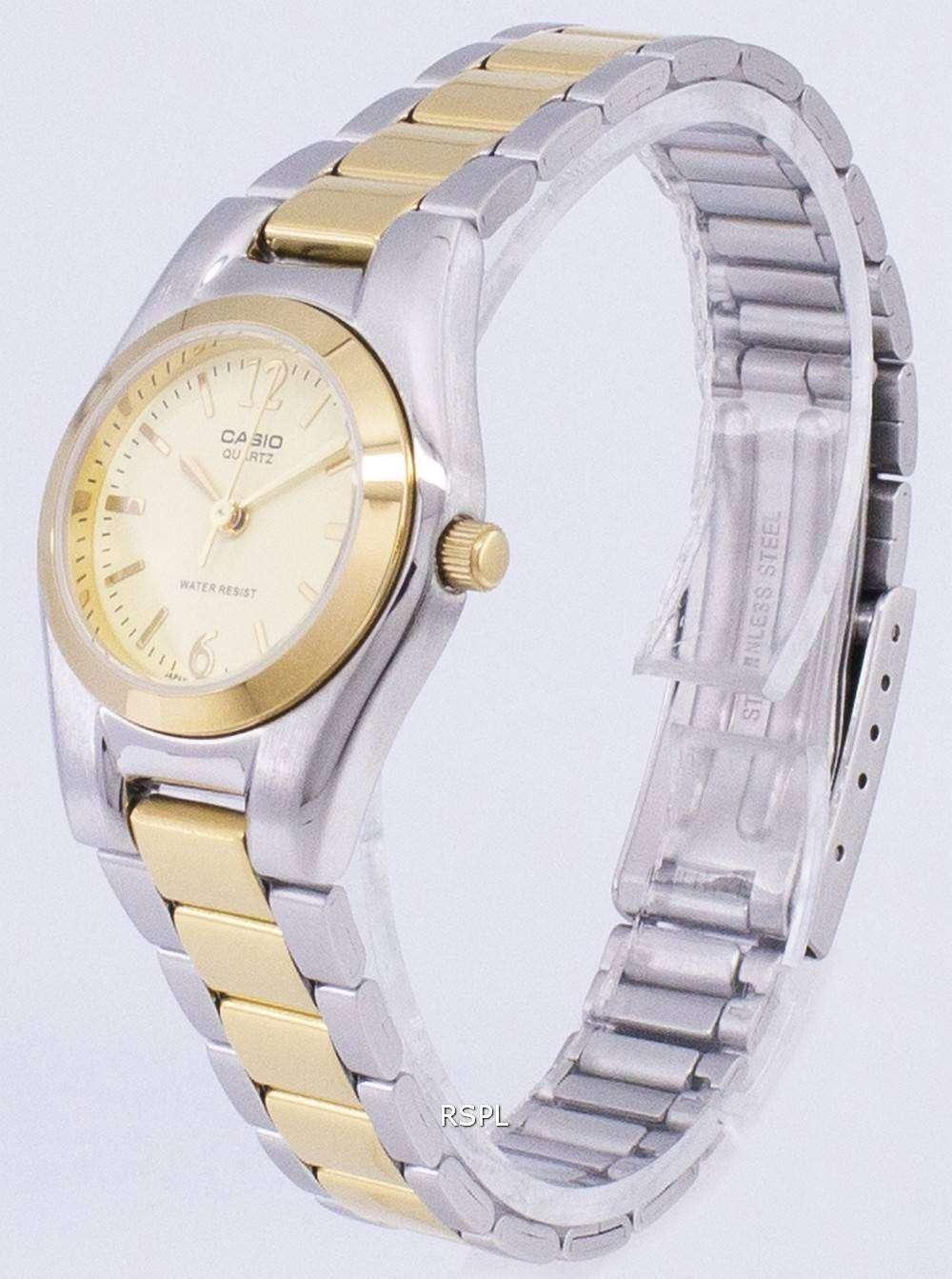 De 1253sg 9adf Mujer Reloj 9a Cuarzo Casio La Analógico Dial Ltp Enticer Oro hdxQrsCt