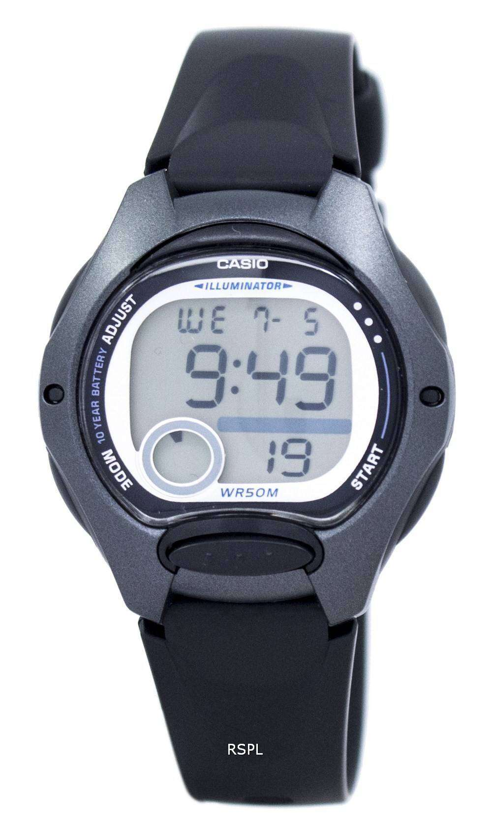 Las Dual Mujeres Lw200 Iluminador Reloj Casio De 1bv Lw Alarma Hora Digital 200 UMqSzVp