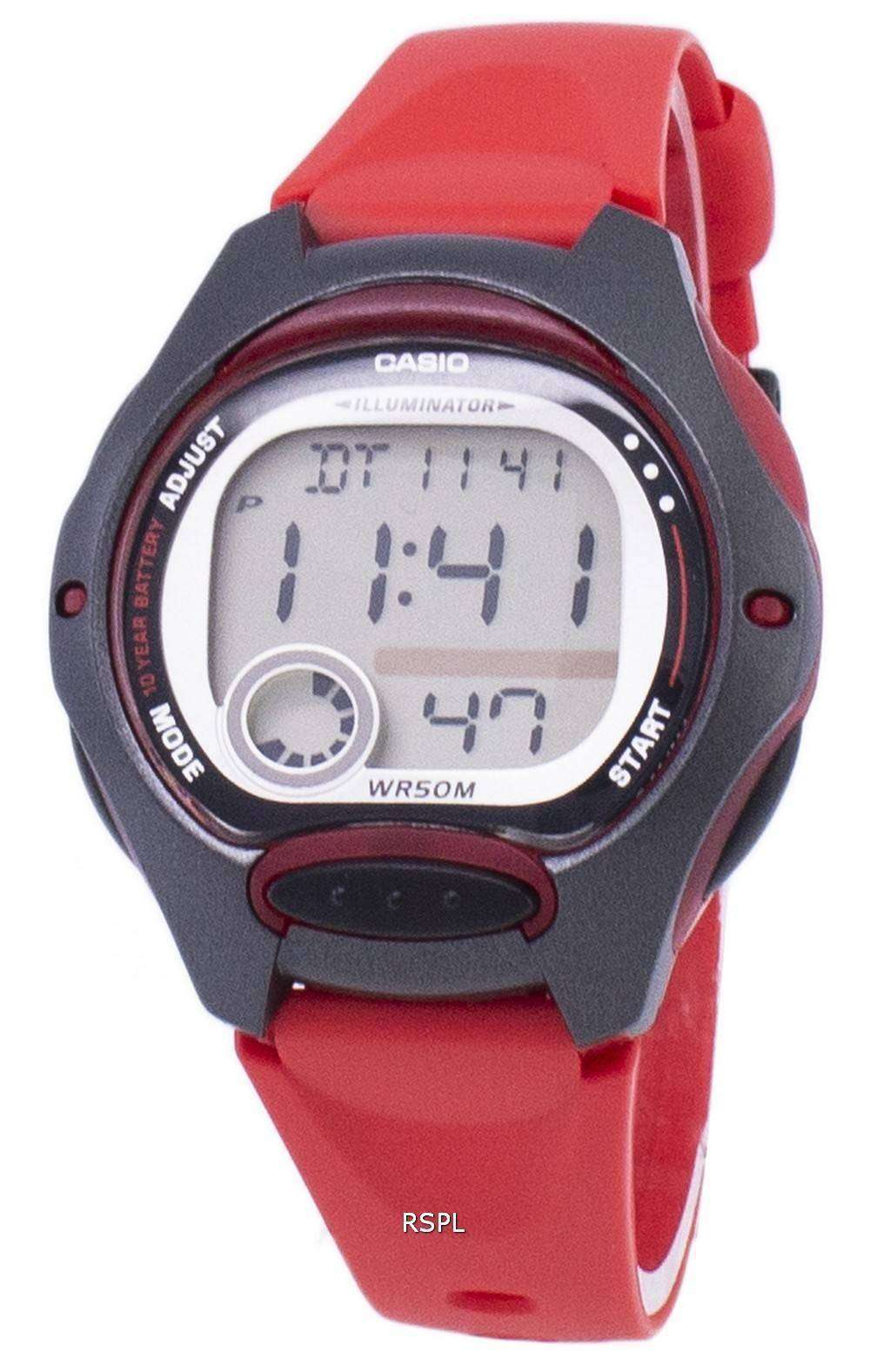 Casio Digital deportes iluminador LW-200-4AVDF reloj de mujeres ... 0b3aedcf359e