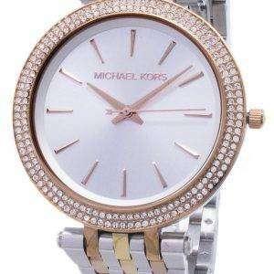 Michael Kors plata Dial Tri-tono cristales MK3203 reloj de mujeres