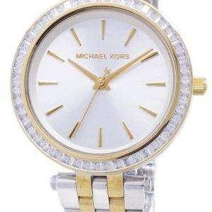 Michael Kors Darci Mini dos tono cristales MK3405 reloj de mujeres