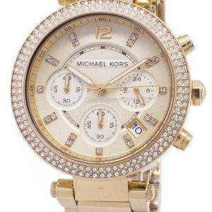 Reloj Michael Kors Parker Glitz Cronógrafo cristales MK5354 de las mujeres