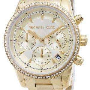 Michael Kors Ritz Cronógrafo cuarzo diamante Acentos MK6356 Watch de Women