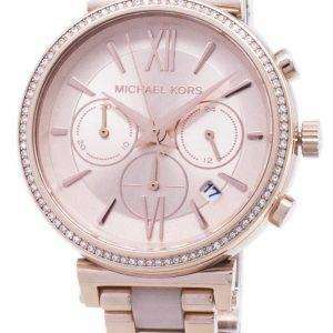 Reloj Michael Kors Sofie Cronógrafo cuarzo diamante acento MK6560 de las mujeres