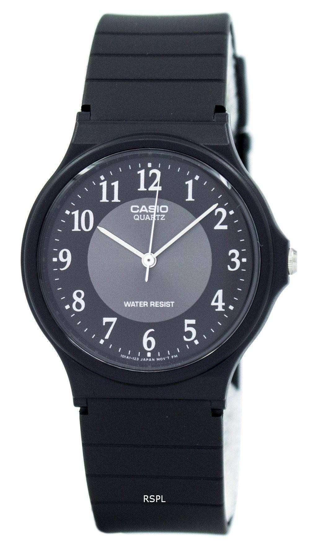 e53375e1e868 Reloj Casio clásico analógico de cuarzo negro resina MQ-24-1B3LDF MQ ...