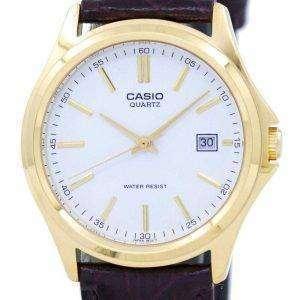 Reloj Casio cuarzo analógico Dial blanco dorado MTP-1183Q-7ADF MTP-1183Q 7A de los hombres