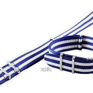 Correa de 22 mm azul y blanco la OTAN Seiko SKX007, SKX009, SKX011, SRP497, SRP641