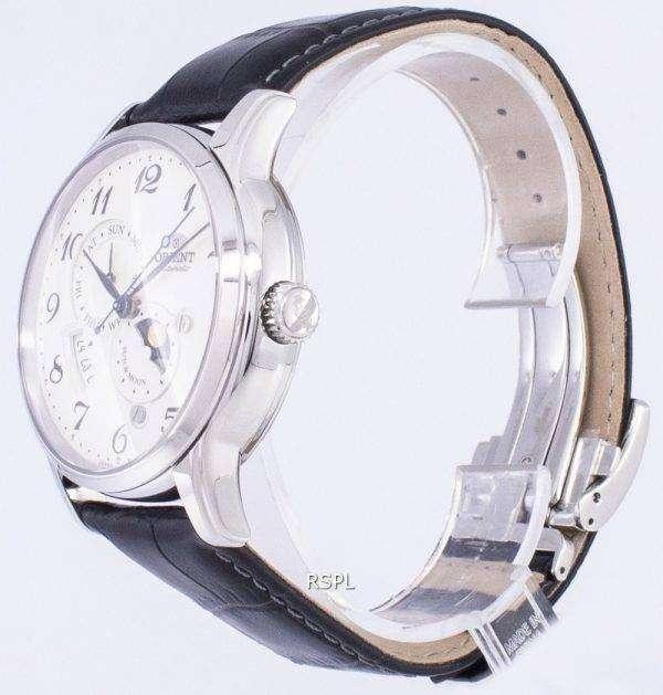 Orient automático sol y Luna Japón de RA-AK0003S00B Watch de Men