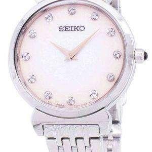Acentos de diamante de cuarzo Seiko SFQ803 SFQ803P1 SFQ803P Watch de Women