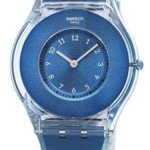 Piel Swatch buceo en cuarzo SFS103 Watch de Women