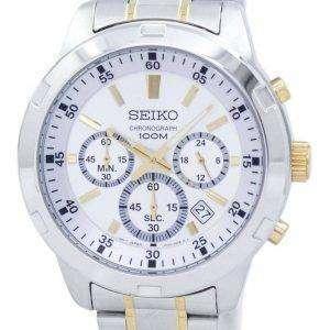 Reloj Seiko cronógrafo de cuarzo SKS607 SKS607P1 SKS607P de los hombres