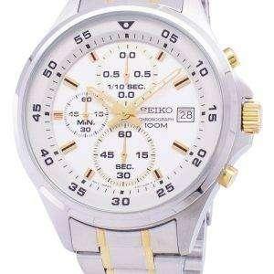 Reloj Seiko cronógrafo de cuarzo SKS629 SKS629P1 SKS629P de los hombres