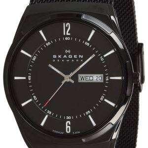 Skagen Melbye titanio negro caja con malla banda SKW6006 reloj de hombres