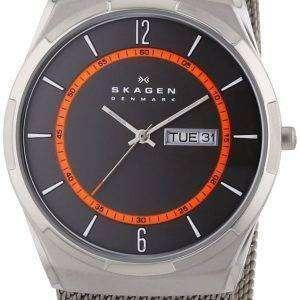 Caja de titanio Skagen Melbye con malla banda SKW6007 reloj de hombres