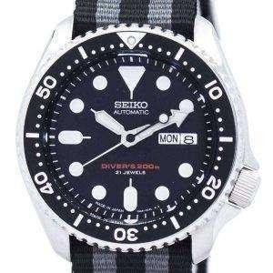 Reloj la OTAN correa 200M SKX007J1-NATO1 hombres de Seiko Automatic Diver