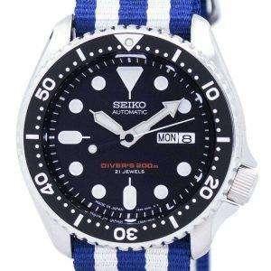 Reloj 200M la OTAN correa SKX007J1-NATO2 hombres de Seiko Automatic Diver