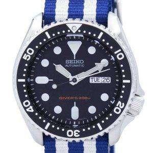 Reloj 200M la OTAN correa SKX007K1 NATO2 hombres de Seiko Automatic Diver