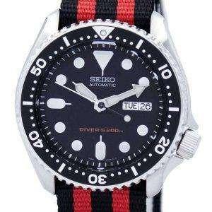 Reloj 200M la OTAN correa SKX007K1 NATO3 hombres de Seiko Automatic Diver