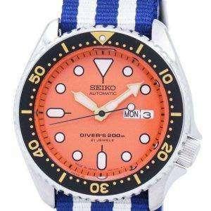 Reloj 200M la OTAN correa SKX011J1-NATO2 hombres de Seiko Automatic Diver
