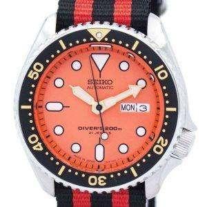 Reloj 200M la OTAN correa SKX011J1-NATO3 hombres de Seiko Automatic Diver