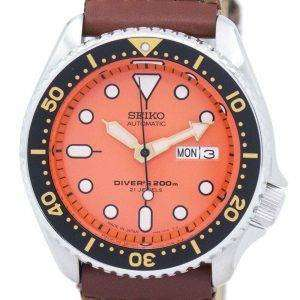 Reloj Nylon correa SKX011J1-NS1 200M de los hombres de Seiko Automatic Diver