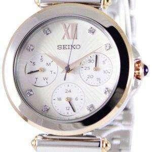 Reloj Seiko multifunción dos tono cristales SKY700P1 SKY700P de las mujeres