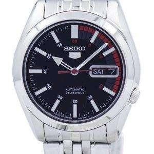 Seiko 5 automático Japón hizo 21 joyas SNK375 SNK375J1 SNK375J Watch de Men