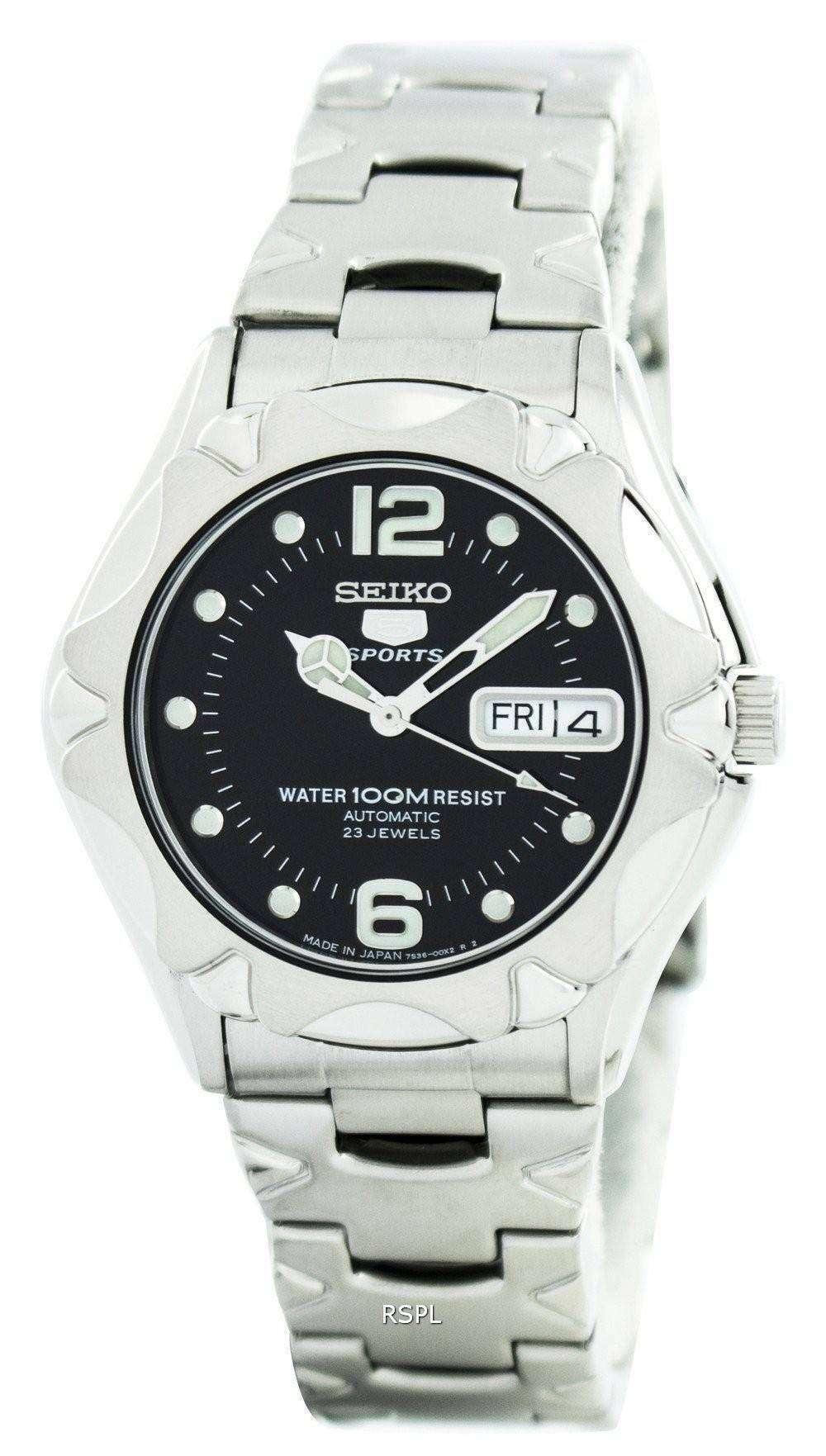 f9f1ad3b9c4d Seiko 5 Sports automático joyas 23 Japón SNZ453 SNZ453J1 SNZ453J Watch de  Men
