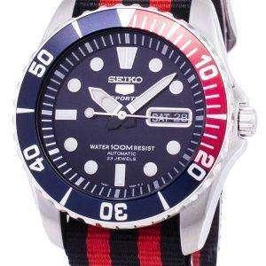 Seiko 5 Sports autom√°tico OTAN correa SNZF15K1 NATO3 Watch de Men