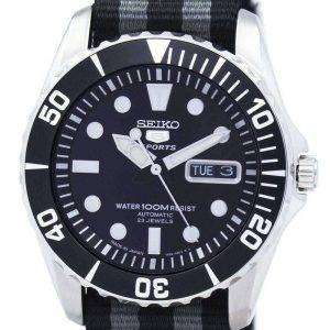 Seiko 5 Sports autom√°tico 23 joyas la OTAN correa SNZF17J1-NATO1 Watch de Men
