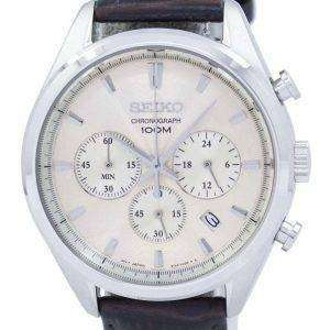 Reloj Seiko clásico cronógrafo de cuarzo SSB293 SSB293P1 SSB293P de los hombres