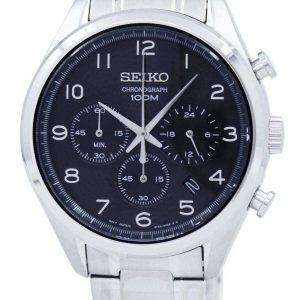 Reloj Seiko clásico cronógrafo de cuarzo SSB295 SSB295P1 SSB295P de los hombres