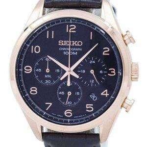 Reloj Seiko clásico cronógrafo de cuarzo SSB296 SSB296P1 SSB296P de los hombres