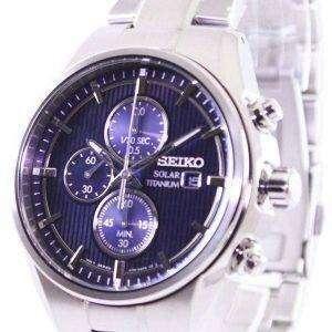 Reloj Seiko titanio Solar Cronógrafo SSC365 SSC365P1 SSC365P de los hombres