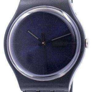Reloj Unisex Swatch originales rebelde negro cuarzo suizo SUOB702