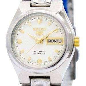 Reloj Seiko 5 automático 21 rubíes SYMK41 SYMK41K1 SYMK41K de las mujeres