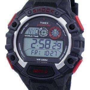 Reloj Timex Expedition Shock Global mundo tiempo alarma Indiglo Digital T49973 de los hombres