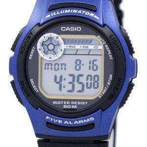 Juventud de Casio Digital 5 alarmas iluminador W-213-2AVDF W-213-2AV reloj de hombres