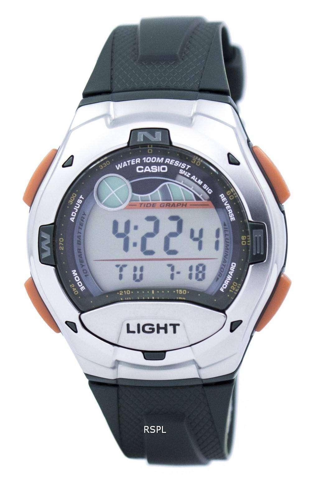 de53695e9410 Casio Digital deportivo marea gráfico iluminador W-753-3AVDF W-753 ...