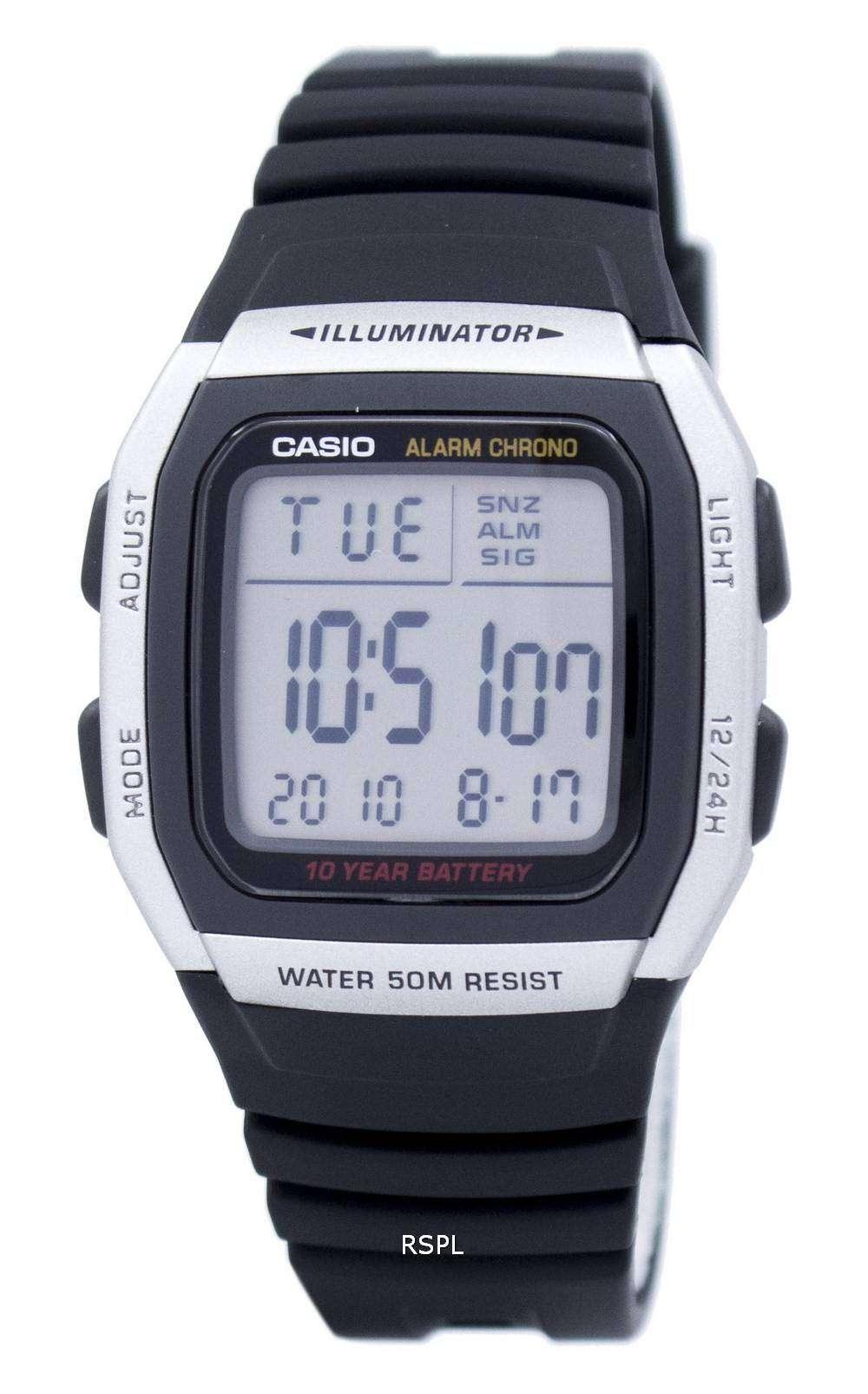 52a6ecd0cdf5 Reloj juvenil Casio Digital alarma Chrono iluminador W-96H-1AVDF W-96H-