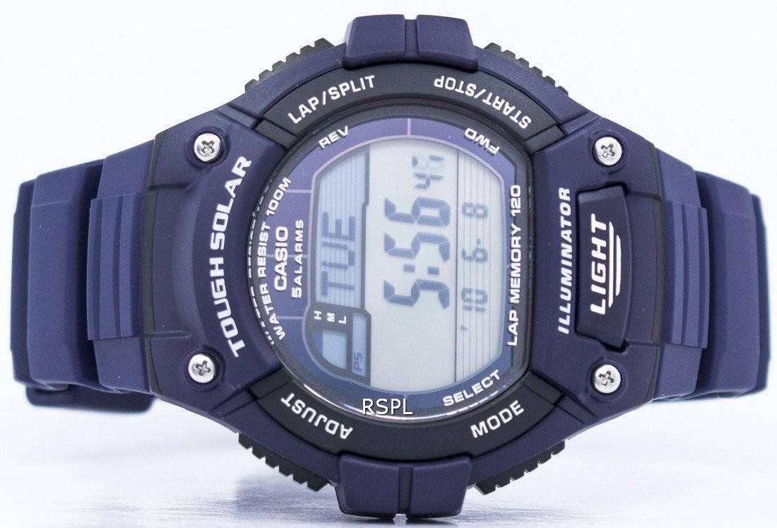 4847ffc0db0a Casio iluminador vuelta Solar resistente memoria alarma Digital W-S220-2AV  reloj de Men