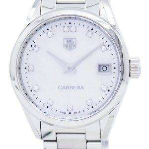 TAG Heuer Carrera cuarzo diamante acento WAR1314. BA0778 Watch de Women