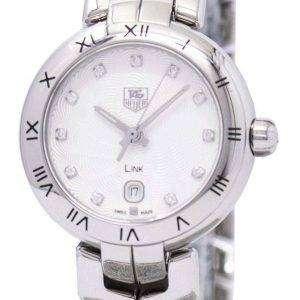 Tag Heuer Link pulsera Diamante Dial WAT1411. BA0954 reloj de mujeres