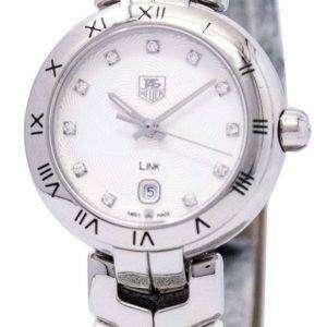 Tag Heuer Link pulsera Diamante Dial WAT1411. FC6316 reloj de mujeres