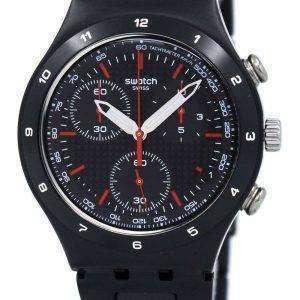 Swatch Irony negro revestido reloj Unisex de cuarzo Chorongraph YCB4019AG