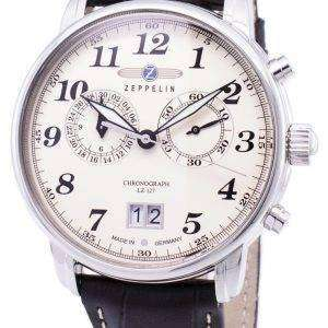 Zeppelin serie LZ127 Graf Alemania hizo 7684-5 76845 Watch de Men
