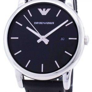 Emporio Armani Classic esfera negra cuero negro AR1692 reloj de hombres