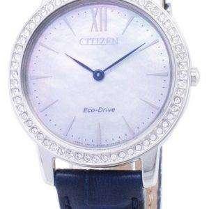 Ciudadano Eco-Conduzca EX1480 - 15D diamante Acentos analógico Watch de Women